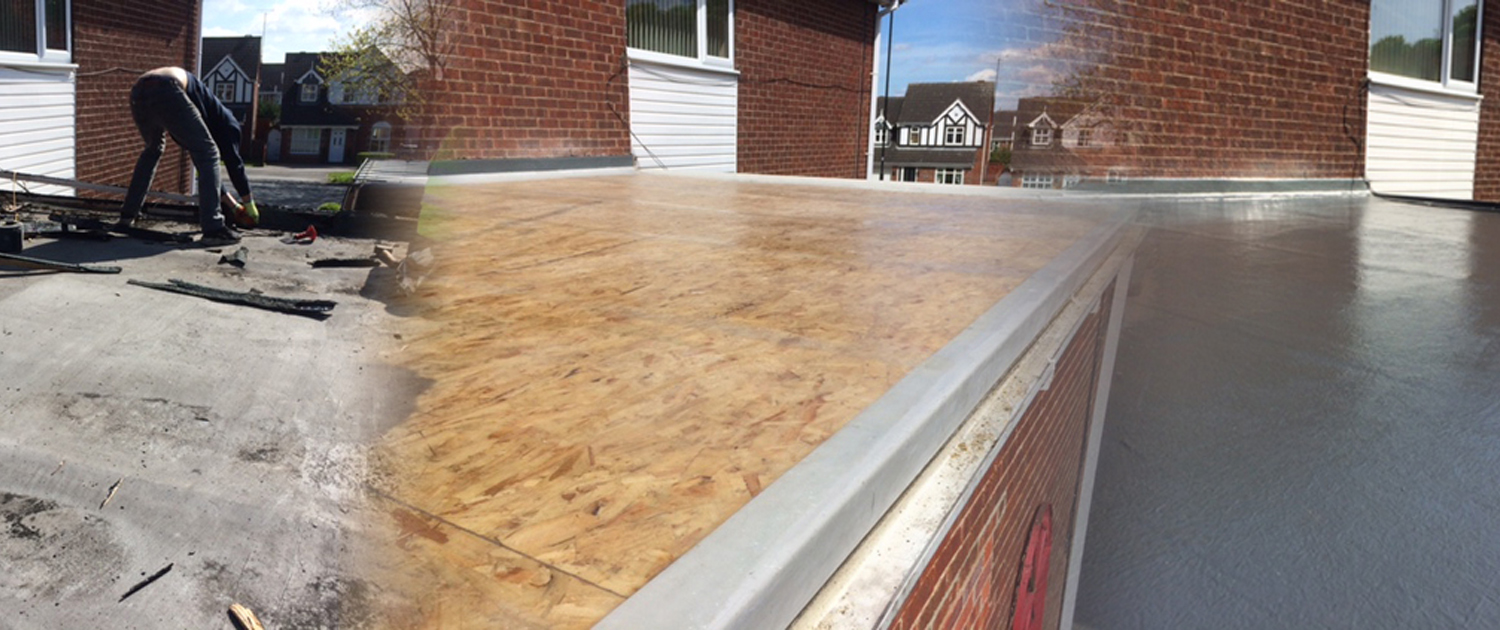 Showing a flat roof installation in Rotherham