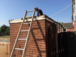 A flat roof repair