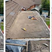 Bitumen felt roof replacement Rotherham